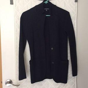 Navy Sweater Blazer